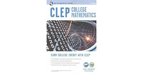 CLEP College Mathematics (Revised) (Paperback) (Mel Friedman) - image 1 of 1
