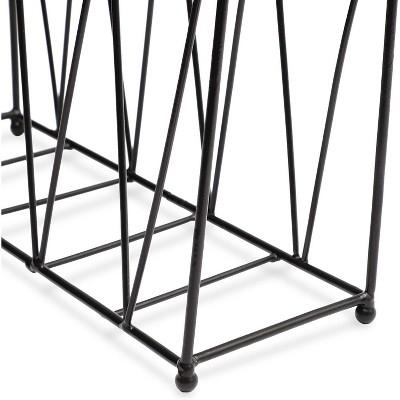 Juvale Hanging Magazine Rack (15.5 Inches, Black)