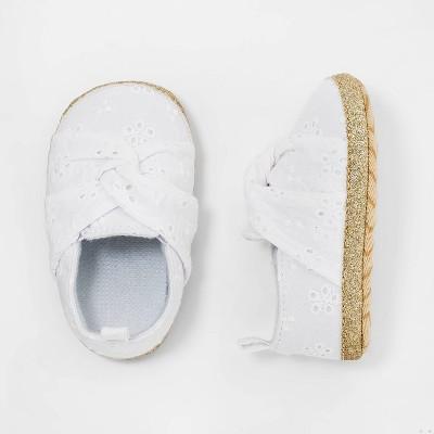 Baby Girls' Eyelet Shoes - Cat & Jack™ White 0-3M