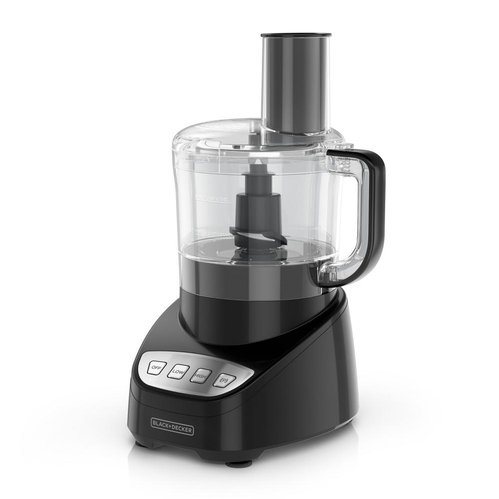 Black+decker 8 Cup Food Processor – Black FP4100B, Black/Clear 53633222