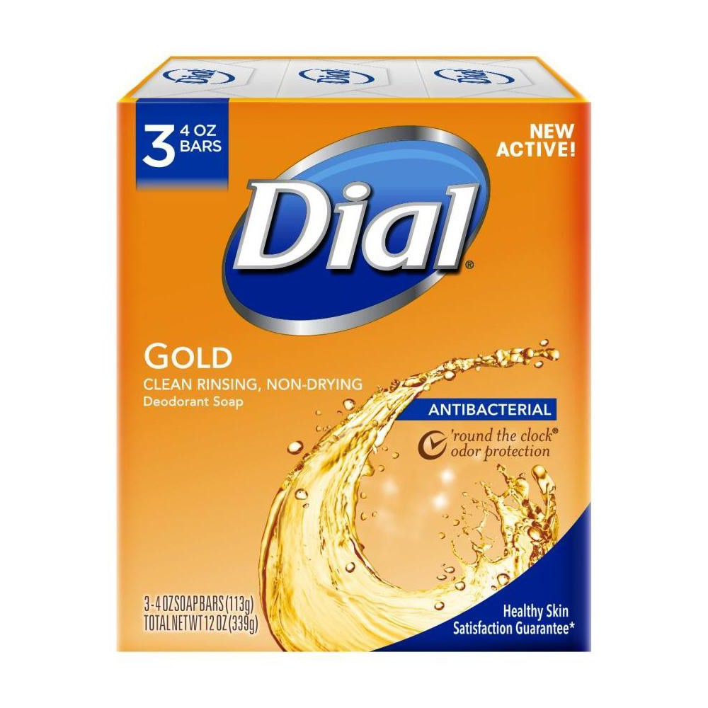 Image of Dial Antibacterial Deodorant Gold Bar Soap - 4oz/3pk Each