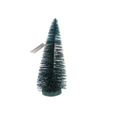 "Christmas 18.0"" Blue Green Tree Holiday Village Scene  -  Decorative Figurines"