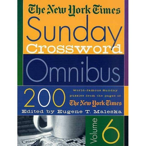 The New York Times Sunday Crossword Omnibus - (New York Times Sunday Crossword Puzzles) (Paperback) - image 1 of 1