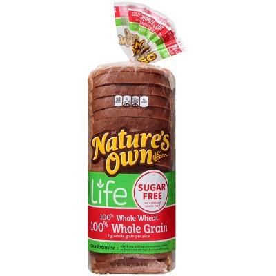 Nature's Own Life 100% Whole Wheat Sugar Free Whole Grain Bread - 16oz