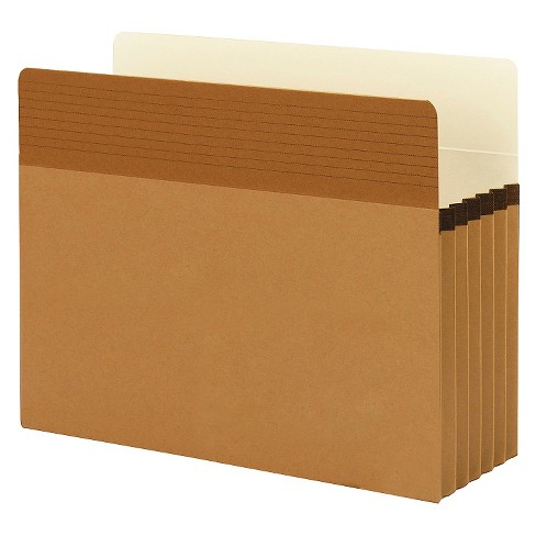 Smead Easy Grip Pocket File Folders, Redrope, Letter, 5 1/4 Inch Accordion Expansion, 10/Box - image 1 of 1