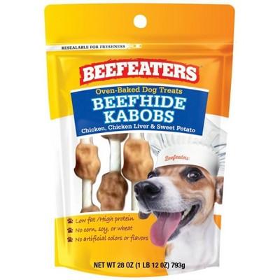Beefeaters Beefhide Kabob Rawhide Dog Treats - 28oz