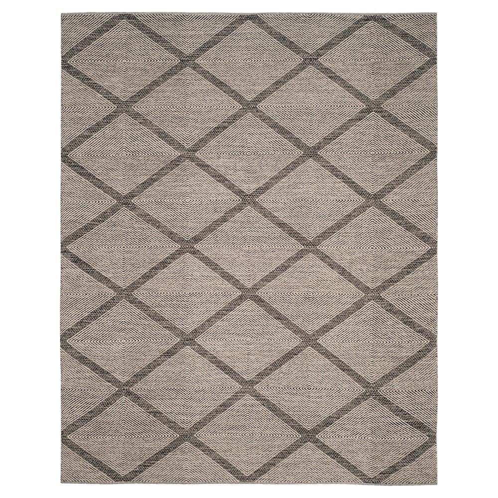 Black Geometric Flatweave Woven Area Rug - (6'X9') - Safavieh