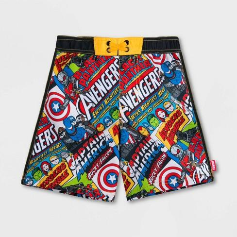 Boys' Marvel Avengers Swim Trunks - Disney Store - image 1 of 3