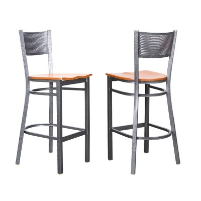 Set of 2 Colter Metal Barstools Silver - Linon