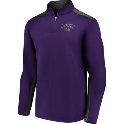 NFL Baltimore Ravens Men's 1/4 Zip Fleece Sweatshirt