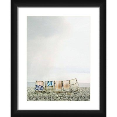 18 X 22 Matted To 2 Chair Together Picture Framed Black Ptm Images Target