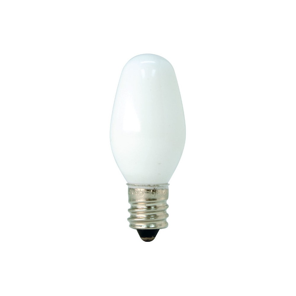 GE 4-Watt Nightlight Incandescent Light Bulb (4-Pack) - White GE Soft White Led Night Light Light C7 white bulbs are designed to use in night light fixtures. Nightlights provide added comfort and security anywhere in your home. These bulbs can also be used for some signal and indicator lights, toys and appliances. Rated to last 1.8 years based on 3 hours use per day.