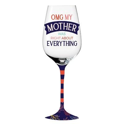 Cypress Home Wine Glass W/ Box, 12 Oz., Celebrate
