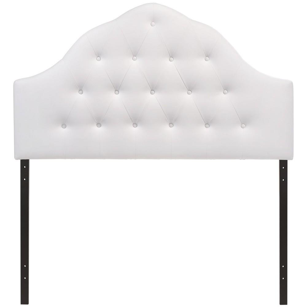 Sovereign Queen Upholstered Vinyl Headboard White - Modway