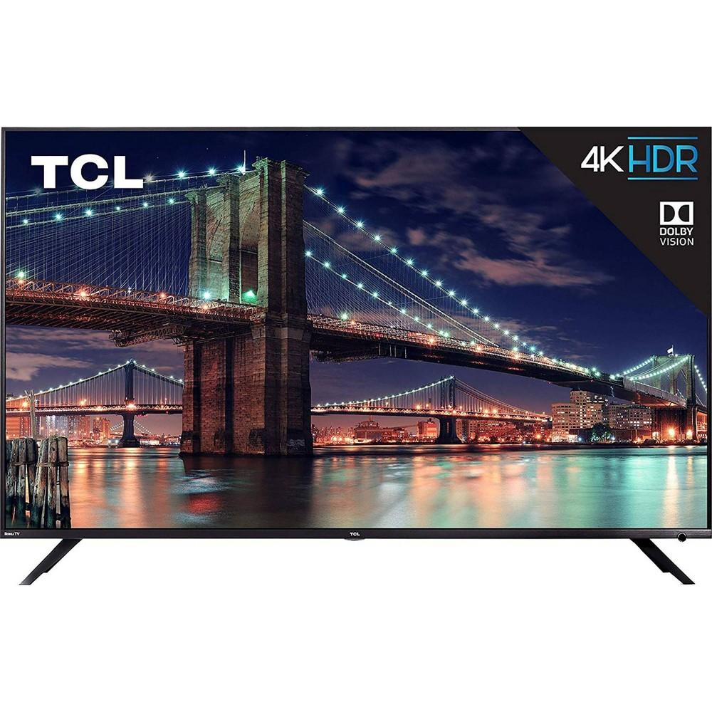 TCL 75-inch Class 4K HDR Roku Smart TV (75R617), Black