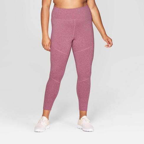 ef12c33f3 Women s Plus Size Performance High-Waisted 7 8 Mini Striped Leggings -  JoyLab™ Grape Purple 3X   Target