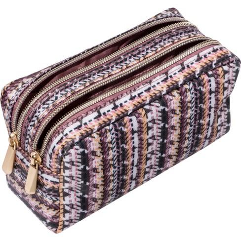 b426e9a77529 Sonia Kashuk™ Cosmetic Bag Double Zip Organizer Broken Houndstooth   Target
