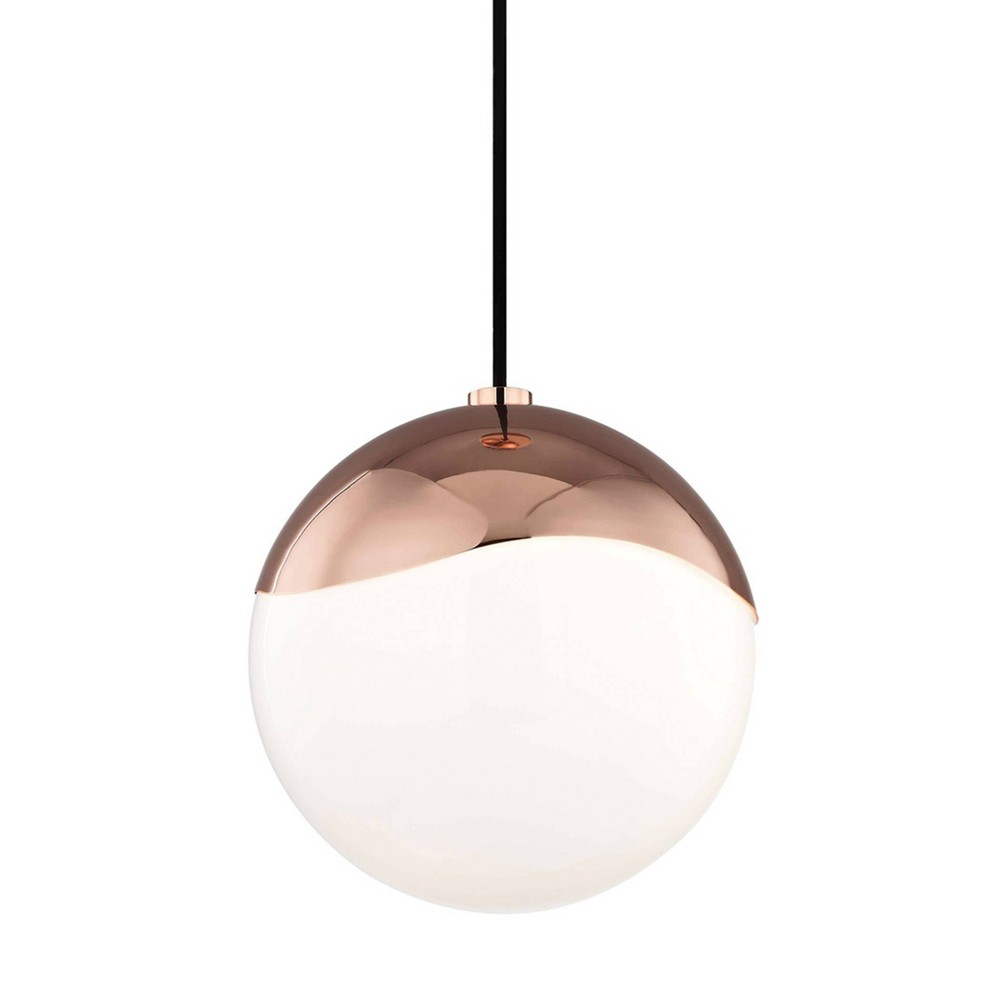 Ella 1-Light Large Pendant Chandelier Polished Copper - Mitzi by Hudson Valley Top