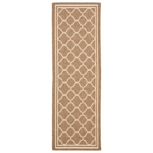 "Renee Rectangle 2'3"" X 20' Outdoor Rug - Brown / Bone - Safavieh® - image 1 of 2"