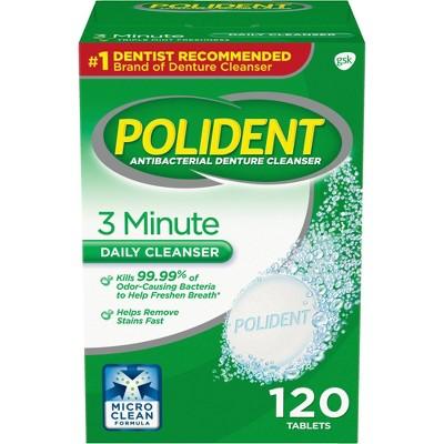 Polident Denture Cleaner Tablets - 120ct