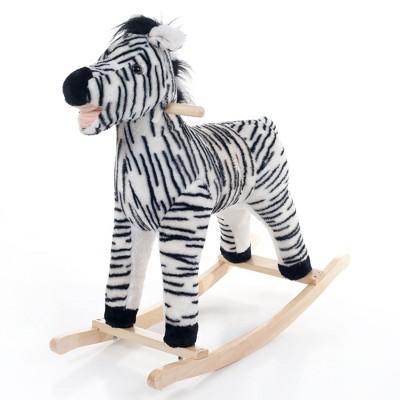 Toy Time Kids' Zebra Plush Rocking Animal Toy