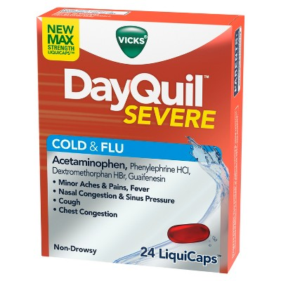 Cold & Flu: DayQuil Severe Cold & Flu LiquiCaps