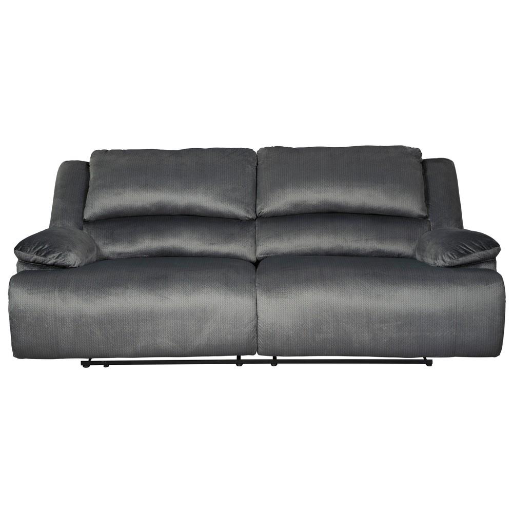 Clonmel Two Seat Reclining Sofa Heather Gray - Signature Design by Ashley