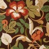 Outdoor Chair Cushion - Brown/Green Floral - image 2 of 4