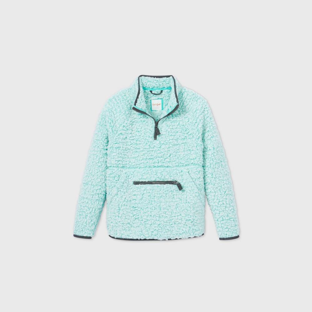 Top Boys' Quarter Zip Sherpa Sweatshirt - Cat & Jack™