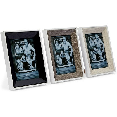 Cottage Creek Farms Rustic Farmhouse Galvanized Picture Frame for 5 x 7 Inch Photos (3 Pack)