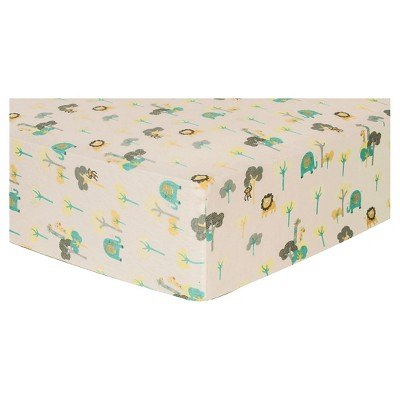Trend Lab Deluxe Flannel Fitted Crib Sheet - Lullaby Jungle