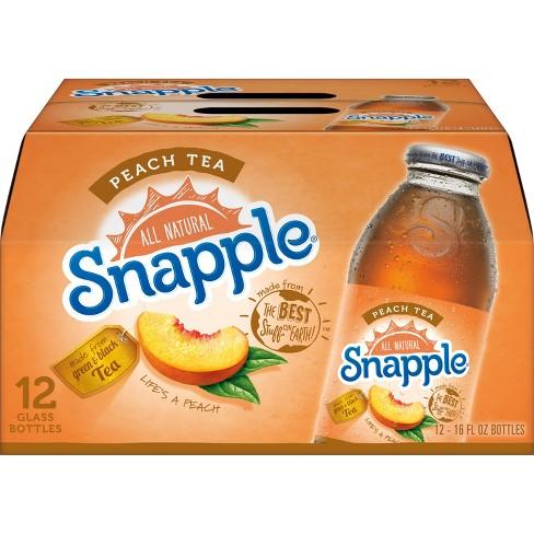 Snapple Peach Tea - 12pk/16 fl oz Glass Bottles