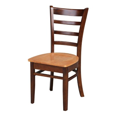 42  Set of 3 Dual Drop Leaf Table with 2 Emily Chairs Cinnamon/Brown - International Concepts