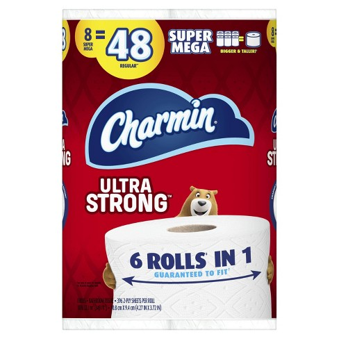 Charmin Ultra Strong Toilet Paper - 8 Super Mega Rolls - image 1 of 4