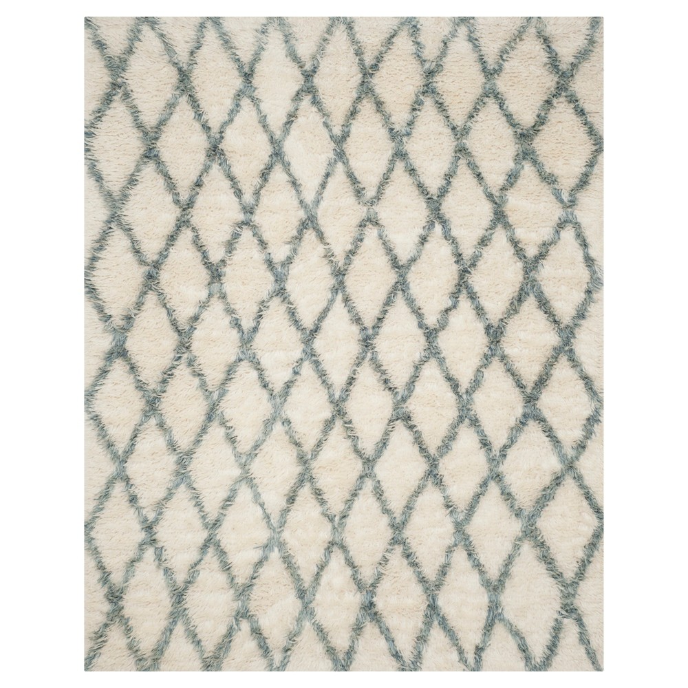 Ivory/Blue Abstract Loomed Area Rug - (9'X12') - Safavieh
