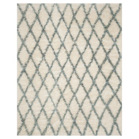 Ivory/Blue Abstract Loomed Area Rug - (9'X12') - Safavieh® - image 1 of 3