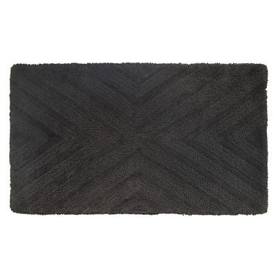 Textured Stripe Bath Rug (20 X34 )Railroad Gray - Project 62™ + Nate Berkus™