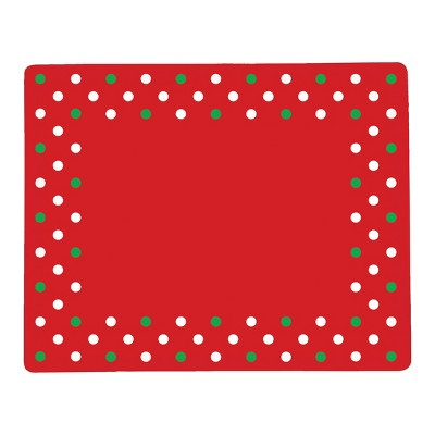 C&F Home Christmas Polka Dots Hardboard Placemat Set of 6