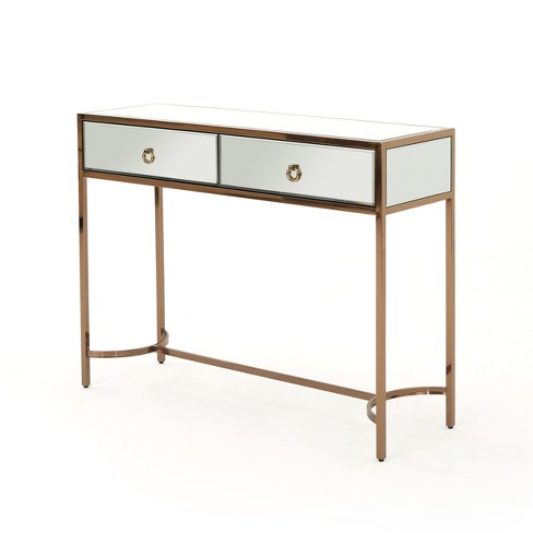 Arthur Modern Console Table Mirrored/Rose Gold - Christopher Knight Home - image 1 of 4