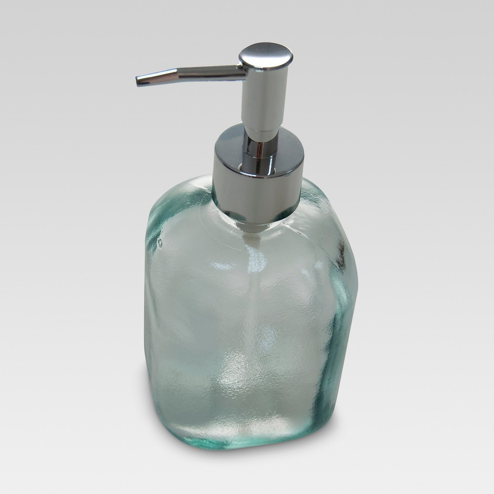Recycled Glass Soap Dispenser Clear - Threshold