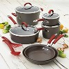 Rachael Ray Cucina 12 piece Hard Anodized Cookware Set - Cranberry - image 7 of 7