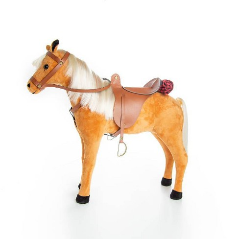 "The Queen's Treasures American Chestnut Pony with Saddle, Reigns and Blanket for 18"" Dolls - image 1 of 4"