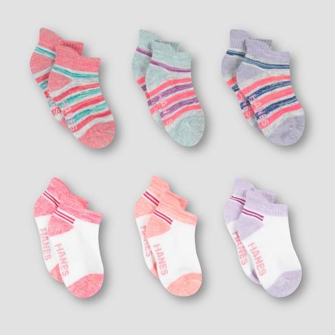 Baby Girls' 6pk Heel Shield Socks - Hanes® - image 1 of 4