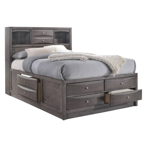 Madison Queen Storage 6pc Bedroom Set Gray - Picket House ...