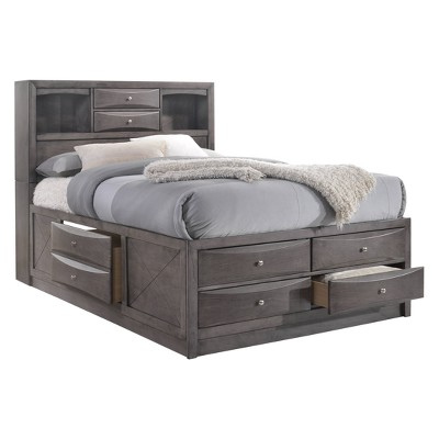 Madison Queen Storage 5pc Bedroom Set Gray   Picket House Furnishings