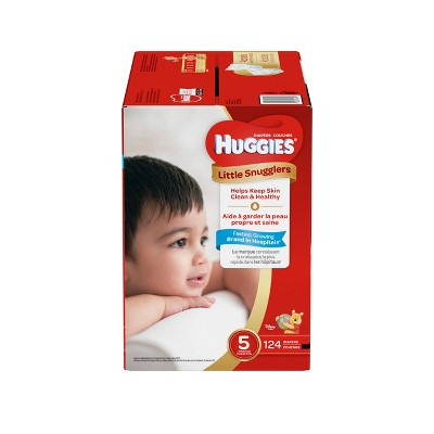 Huggies Little Snugglers Diapers - Size 5 (124ct)