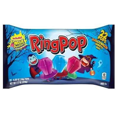 Ring Pop Halloween Candy - 7.7oz/22ct