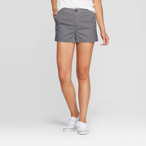 Women's High-Rise Chino Shorts - A New Day™ - image 1 of 3