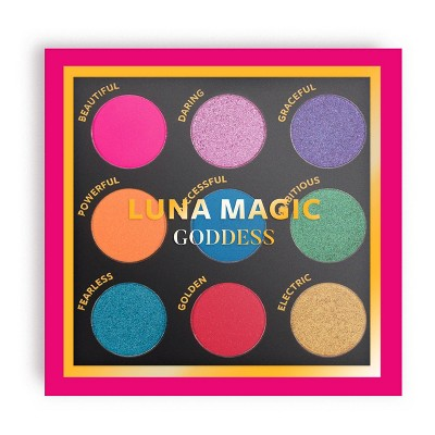 LUNA MAGIC Goddess Eyeshadow Palette - 9 Colors - 0.41oz