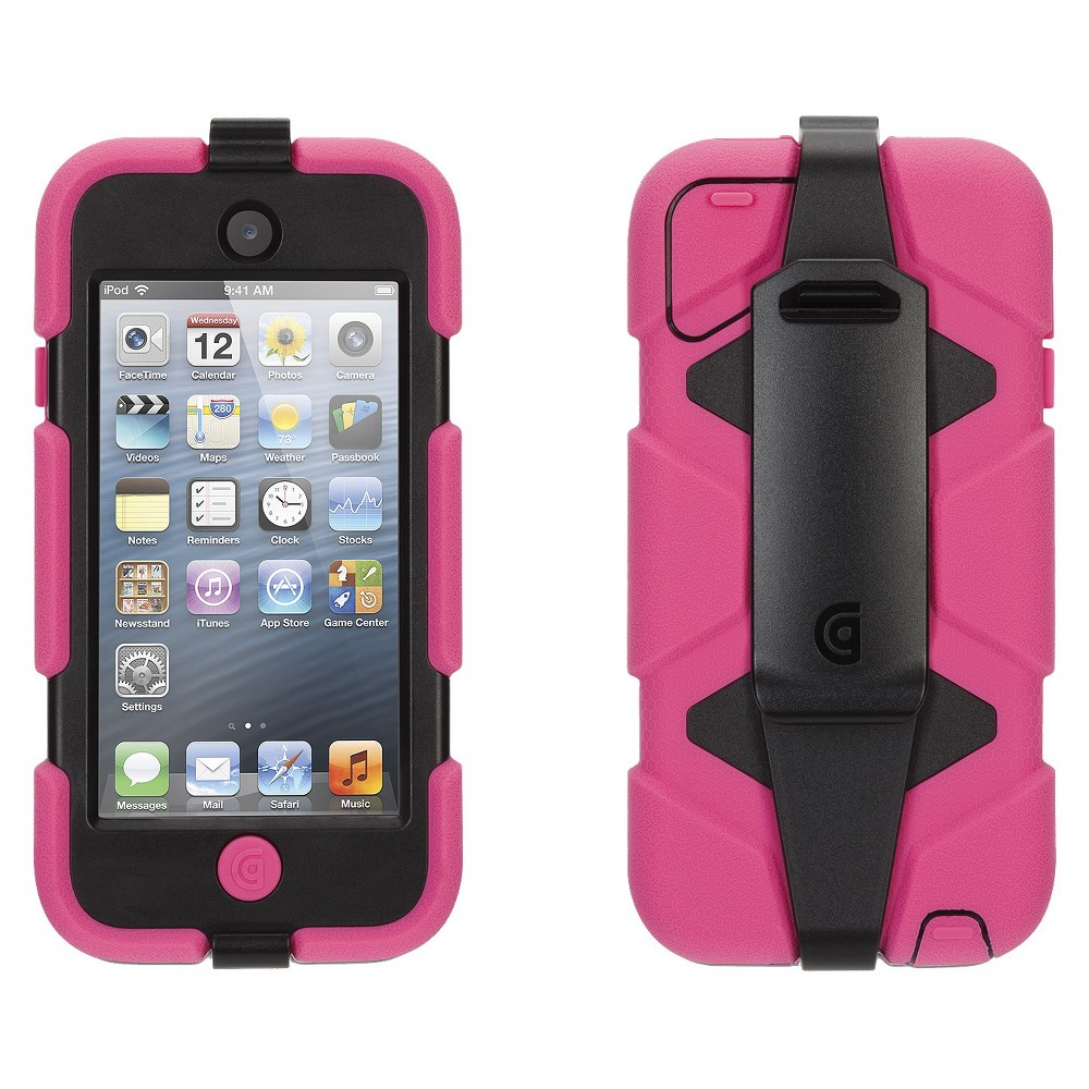 Griffin Technology Survivor for iPod Touch 5th/6th Generation - Pink & Black, Pink/Black